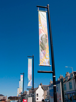Banners for COAST by David Blyth